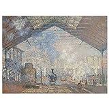 JUNIWORDS Poster, Claude Monet, Der Bahnhof Saint-Lazare,