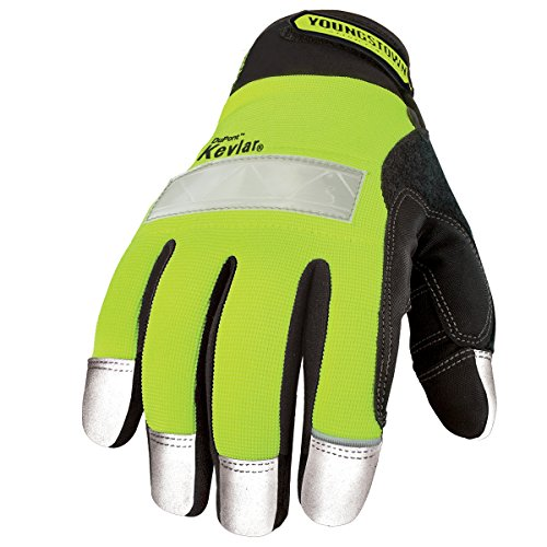Youngstown Glove M seguridad Lime guante forrado con Kevlar
