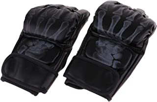 F Fityle Half Finger Boxing Gloves MMA UFC Sparring Grappling Fight Punch Ultimate Mitts Boxing Fighting Punch Bag Fingerl...