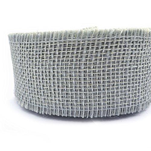 Jute GRAU 3 m x 6 cm (1,15€/m) Juteband Naturjute Dekoband Geschenkband Gitterband 60 mm Rustikal Floristikband