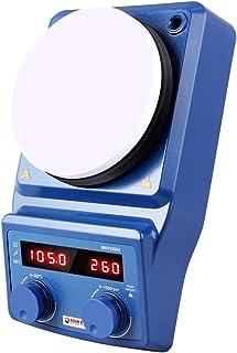 5 اینچ LED دیجیتال Magnetic Hotplate Stirrer - چهار E با سرامیک Coated Hotplate، 100-1500RPM، 5L، 600W - لوازم خانگی Benchtop برای آزمایشگاه کالج های تحقیقاتی علمی - Plug US