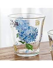 340ml Hydrangea Tea Cup Coffee Mug Flower Tea Mug for Borosilicate Glass Crystal Glass Elegant Drinking Glass for Tea Mixed Drinks Water Juice Cocktail
