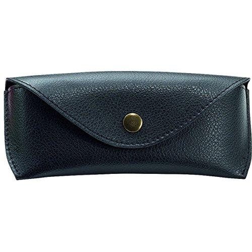 Alassio - Estuche para Gafas de Piel auténtica, tamaño Grande, Aprox. 16 x 7 x 4 cm Organizador de Bolsillo, 16 cm, Color Negro
