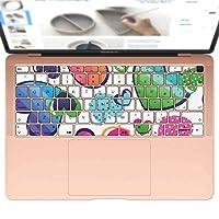 igsticker MacBook Air 13inch 2018 専用 キーボード用スキンシール キートップ ステッカー A1932 Apple マックブック エア ノートパソコン アクセサリー 保護 004784 ラブリー ハート カラフル