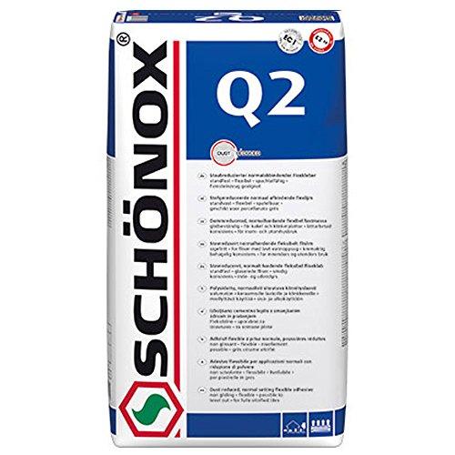 Fliesenkleber Schönox Q2 Flex C2TE normal abbindender Flexkleber (25Kg)