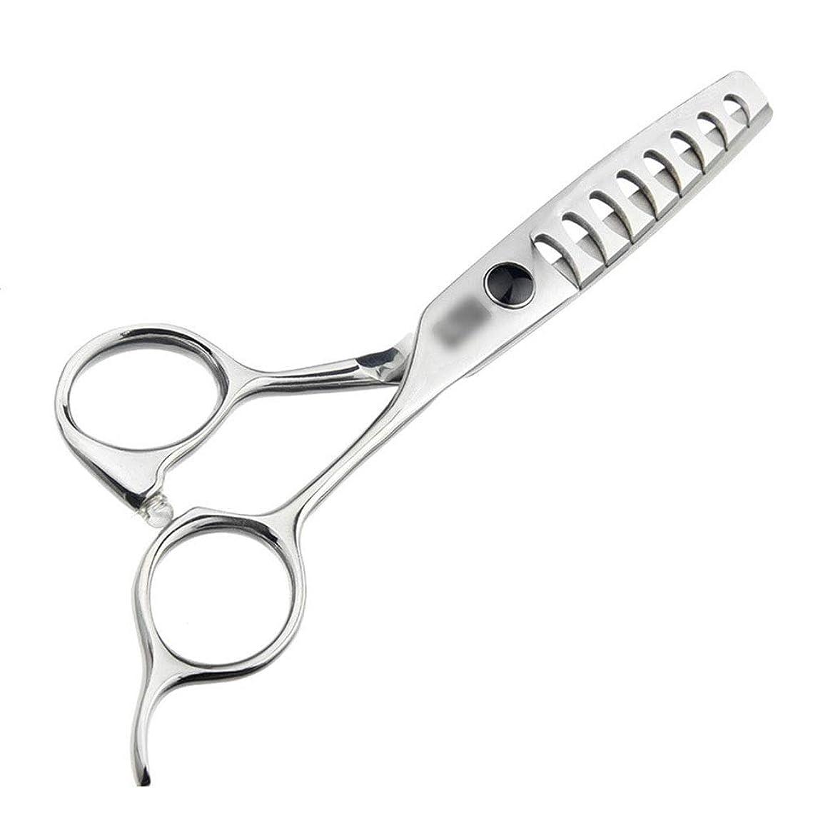 知恵置くためにパック限り5.5インチの散髪の上限の魚の骨のはさみ、継ぎ目が無い毛のはさみ モデリングツール (色 : Silver)