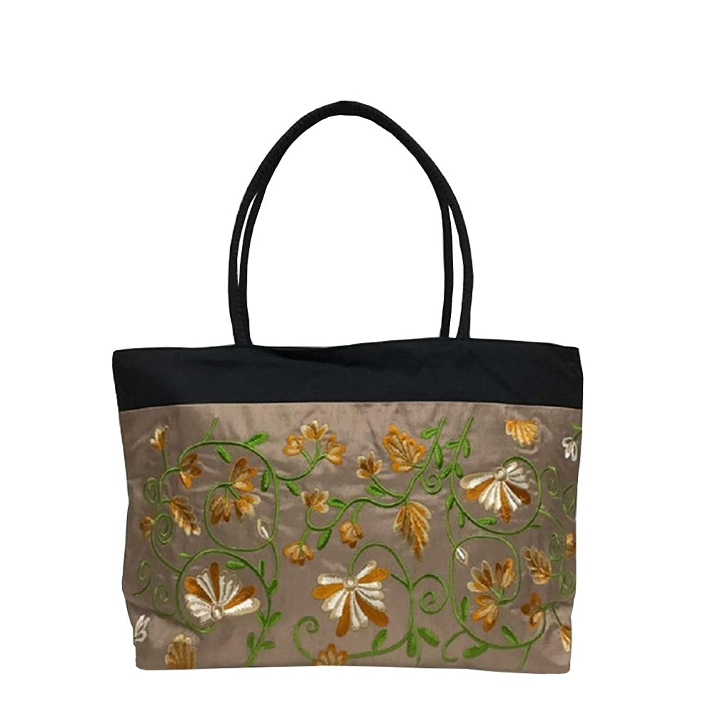 不誠実緑助言するベトナムバッグ 刺繍 トートバッグ 鞄 両面刺繍 ベトナム雑貨