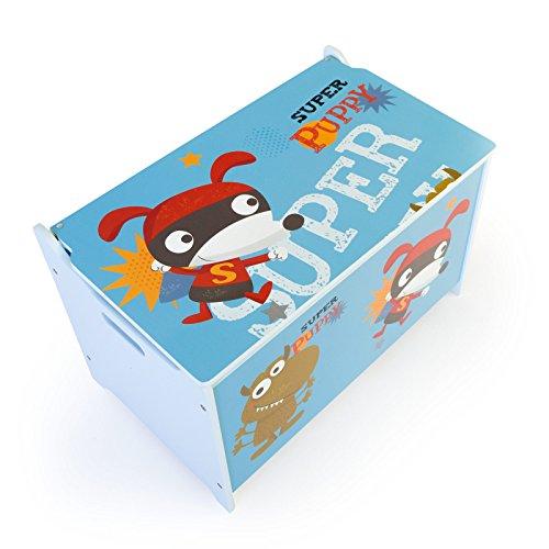Homestyle4u Spielzeugkiste Schmetterling Spielzeugtruhe, 60x35x38cm - 4