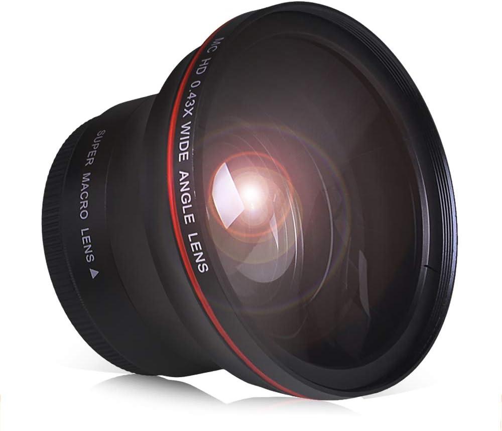 PowerTrust 55MM 0.43x free Professional HD Wide Macro Lens Angle w Tucson Mall Po