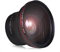PowerTrust 52MM 0.43x Professional HD Wide Angle Lens with Macro Portion for Nikon D7100 D7000 D5500 D5300 D5200 D5100 D33...