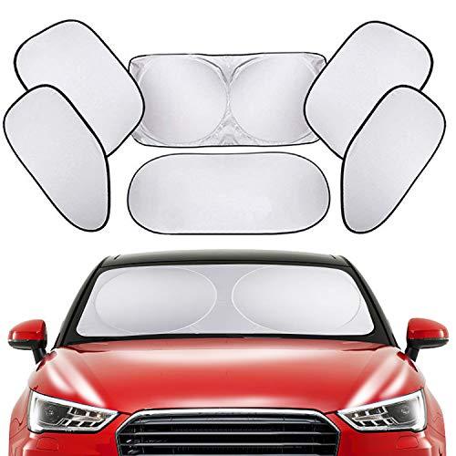 PEMOTech Voll versenkbare Windschutzscheibe, um Ihr Fahrzeug kühler und unbeschädigt zu halten Packen von 6