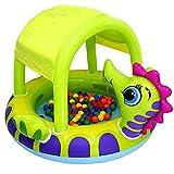 LWZ Piscina Inflable para bebés Cubierta de caballitos de mar Instalaciones de Entretenimiento acuático, baños multifunción, Piscinas inflables, Patio Interior y Exterior