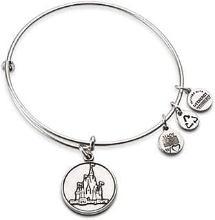 New Disney Alex and Ani Silver Cinderella's Castle Bracelet