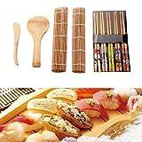 Dewin Sushi Maker - Utensilios para Hacer Sushi para la Familia Fiestas en la Oficina Sushi Hecho Gadget para Amantes de la Comida 13pzas / Set
