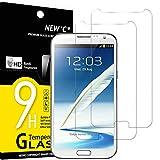 NEW'C 2 Pezzi, Vetro Temperato per Samsung Galaxy Note 2, Pellicola Prottetiva Anti Graffio, Anti-Impronte, Senza Bolle, Durezza 9H, 0,33mm Ultra Trasparente, Ultra Resistente
