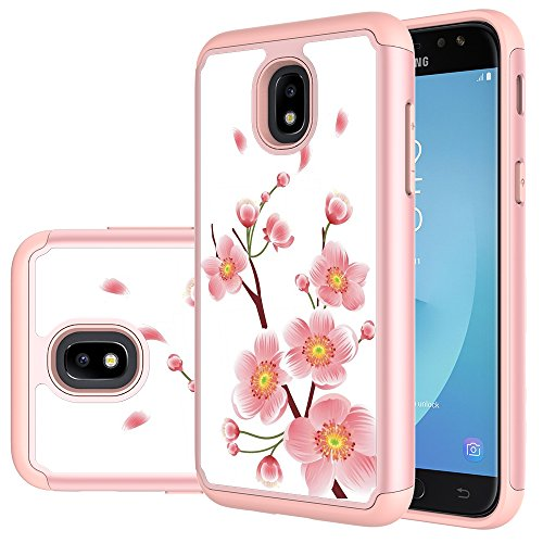 MAIKEZI TPU Plastic case for Samsung Galaxy J3 2018/J3 V 3rd gen/J3 Eclipse 2/Orbit/Achieve/ExpressPrime/Prime2/Amp Prime3/Emerge 2018/Sol 3/J3 Aura/Star(Rose Gold)