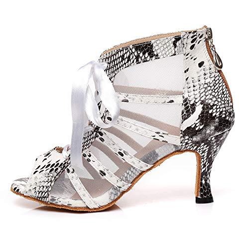 HROYL Zapatos de Baile Latino Mujer Zapatos de Baile de Salón Zapatos...