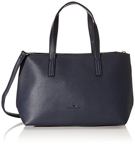 TOM TAILOR Shopper Damen, Dunkelblau, Marla, 34x12x21 cm, Handtasche, Umhängetasche