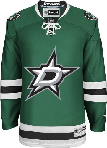 NHL Dallas Stars Men's Center Ice Team Color Premier Jersey, Green, Large