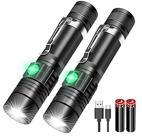 Flashlights USB Rechargeable, Vnina Tactical Led Flashlight, 4 Models, Zoomable, Waterproof, Battery…