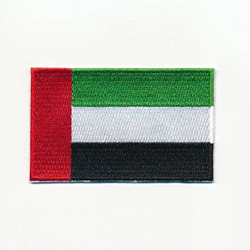 40 x 25 mm Patch Vereinigte Arabische Emirate Flagge Flag Aufnäher Aufbügler 0939 A