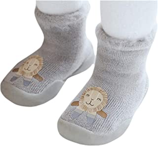 Bigood Newborn Toddler Baby Floor Socks Kids Cartoon Warm Anti-slip Slipper Sock