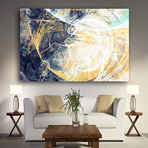 Geiqianjiumai Abstract Geometrische Lijnen Olieverfschilderij Canvas Pop Art Posters Prints