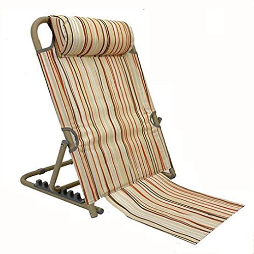 HTQ Respaldo portátil Cuidado de la Cama para Pacientes Ancianos Soporte Lumbar para la Cabeza y el Cuello Alivio de la Fatiga Silla Inclinada Ajustable (Color : A)