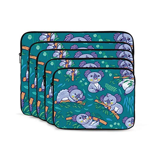 Fun Koalas in The Eucalyptus 12/13/15/17 Inch Laptop Sleeve Bag for MacBook Air 13 15 MacBook Pro Portable Zipper Laptop Bag Tablet Bag,Diving Fabric,Waterproof