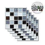 KOBWA Papel Tapiz ladrillo 3D,Azulejos para pelar y Pegar a Prueba de Agua para el diseño del hogar, Sala de Estar, Dormitorio, Cocina y decoración de baños 7.87in x 7.87in (6 Azulejos)