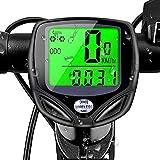SHS2018 - Velocímetro para bicicleta, impermeable, IP54, retroiluminación LCD, con cronómetro, monitor en tiempo real, velocidad y distancia