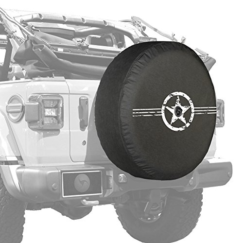 Boomerang - Air Force Star - 32' Soft JL Tire Cover for Jeep Wrangler JL (with Back-up Camera) - Sport & Sahara (2018-2021)