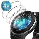 UTECTION 3X Schutzglas Folie für Samsung Galaxy Watch 46mm / Gear S3 Frontier / S3 Classic - Bildschirm Glasfolie Anti Kratzer - Schutzfolie, Bildschirmschutzfolie aus Glas - Passexakte Schutzglasfolie