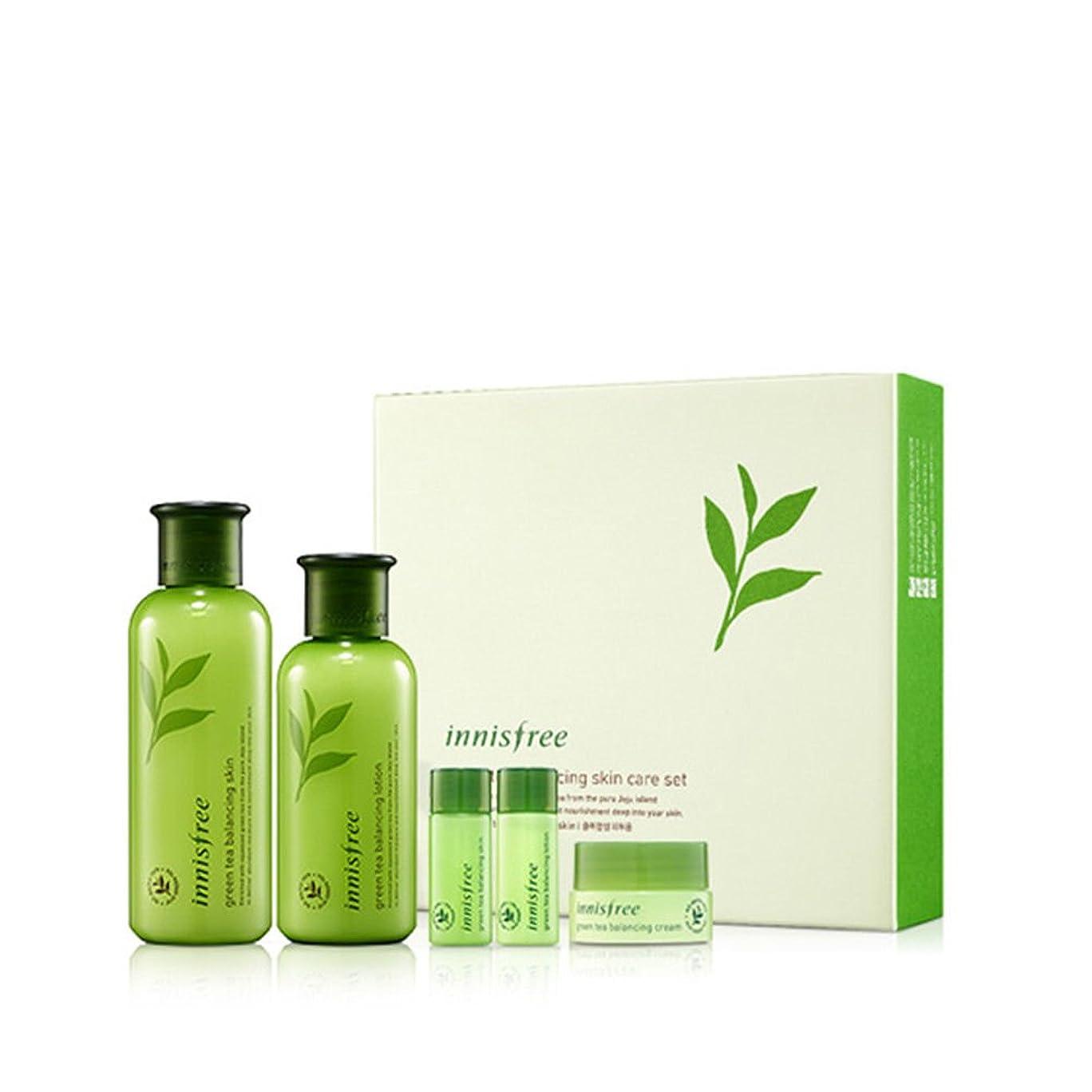 化学薬品違法クリーム[イニスフリー] Innisfree [グリーンティーバランシングスペシャルスキンケアセット] Green Tea Balancing Special Skin Care Set [海外直送品]
