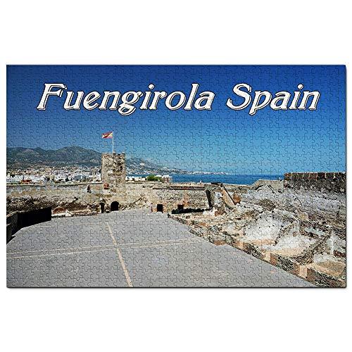 Spain Castle of Sohail Fuengirola Jigsaw Puzzle 1000 piezas juego ilustraciones viaje recuerdo madera