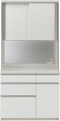 パモウナ 食器棚WL パールホワイト 幅100×高さ198×奥行50 日本製 WLA-1000R