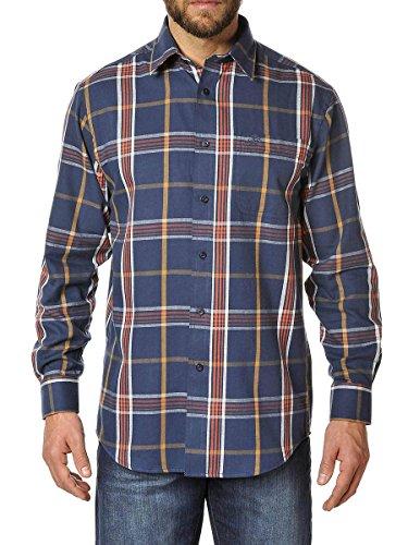 Winchester Triumph Hemd Langärmelig Größe 2x L Blau/Orange