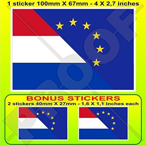 EUROPE-NEDERLAND vlag, EU-NL European Union-Dutch 4