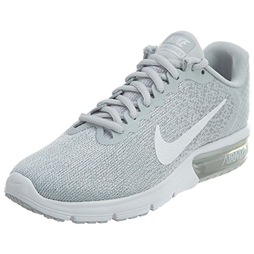 Nike Air Max Sequent 2 Pure Platinum/White/Wolf Grey Women's Running Shoes Size 7