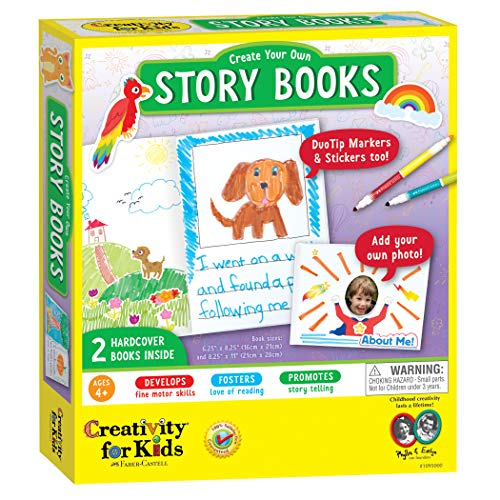 Creativity for Kids Create Your Own Story Books - 2 Blank Hardcover Books - Open-Ended Crafting (Packaging May Vary)
