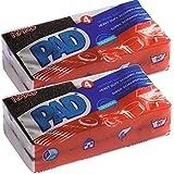 PAD - Cuscinetto in spugna super-pulitrice 'HARD PAD' contro lo sporco ostinato, (2 x 4 = 8 cuscinetti)