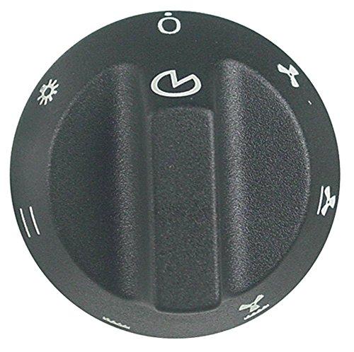 Smeg Knebel für Backofen mit langem Schaft ø 55mm Symbol Backofen für Achse ø 6x4,6mm mit Abflachung oben schwarz