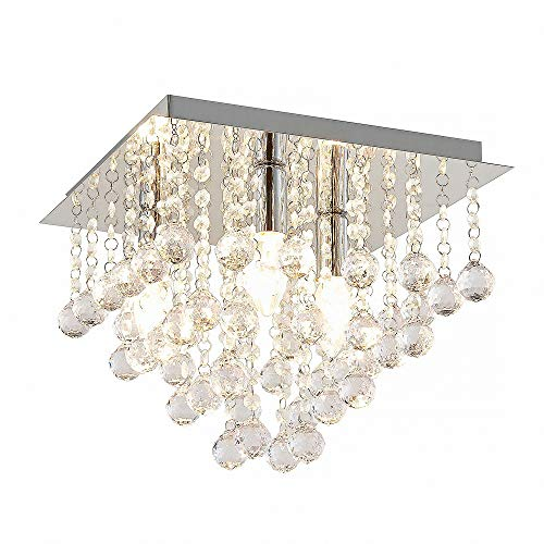 CRIS 10145 - Lámpara de techo (32 cm de diámetro, cromo, c