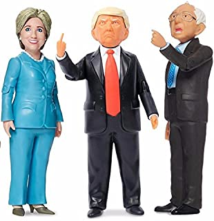 FCTRY Real Life Political Action Figures Kitchen Sink Bundle Includes Hillary Clinton, Bernie Sanders, and Donald Trump