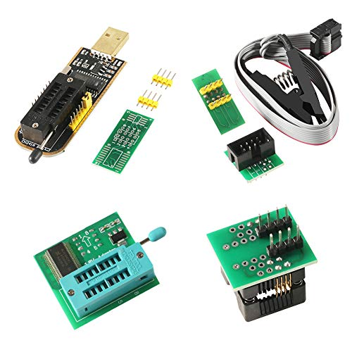 ACEIRMC SOIC8 SOP8 Test Clip For EEPROM 93CXX / 25CXX / 24CXX + CH341A 24 25 Series EEPROM Flash BIOS USB +1.8V Adapter + Soic8 Adapter Programmer Module Kit (1 sets)