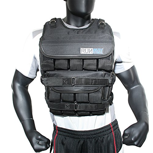 RUNFast 12lbs-140lbs Weighted Vest (with Shoulder Pads, 140lbs)