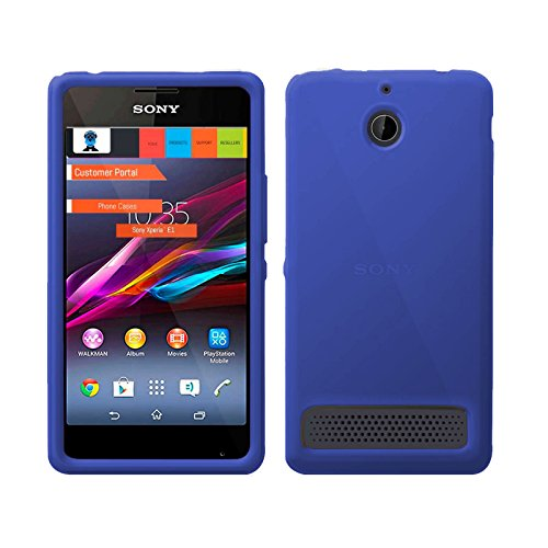 TBOC® Blau Gel TPU Hülle für Sony Xperia E1 D2004 Ultradünn Flexibel Silikonhülle