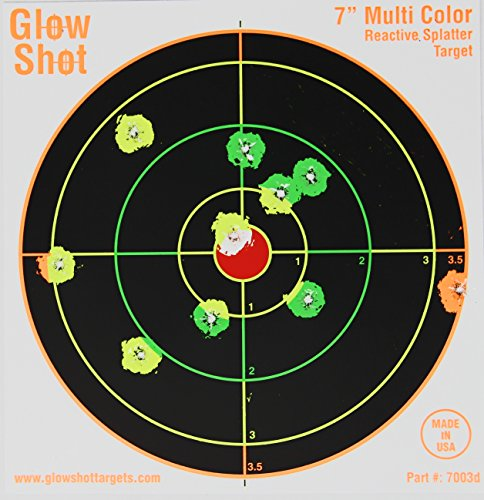 100 Pack - 7' Reactive Splatter Targets - GlowShot - Multi Color - See Your Hits Instantly - Gun, Rifle & Airsoft Targets (100 Pack)
