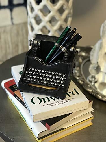 Retro/Shabby Chic/Vintage Typewriter Pencil Holder for Desk/Desk Organizer for Writer's Desk- Nostalgic Gift for Writers/Gift for Vintage Lovers/Gift for Typewriter Lovers