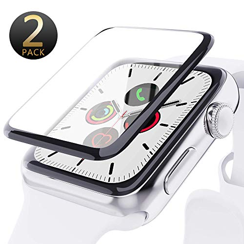 Apple Watch 44mm Series 5/4 Screen Protector, [2 Pack] [Max Coverage][Case Friendly]Tempered Glass Screen Protector for Apple Watch 44mm Series 5/4